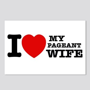 I love my Pageant Wife Postcards (Package of 8)
