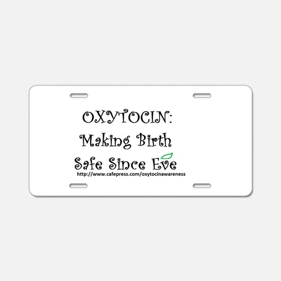 Homebirth Aluminum License Plate