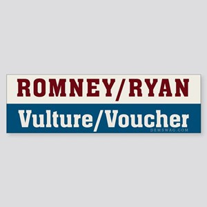 Romney/Ryan Vulture/Voucher Sticker (Bumper)