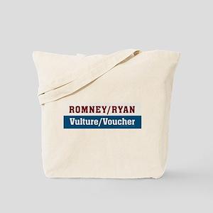 Romney/Ryan Vulture/Voucher Tote Bag
