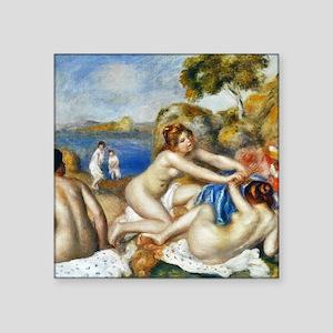 "Renoir Three Bathers Square Sticker 3"" x 3"""