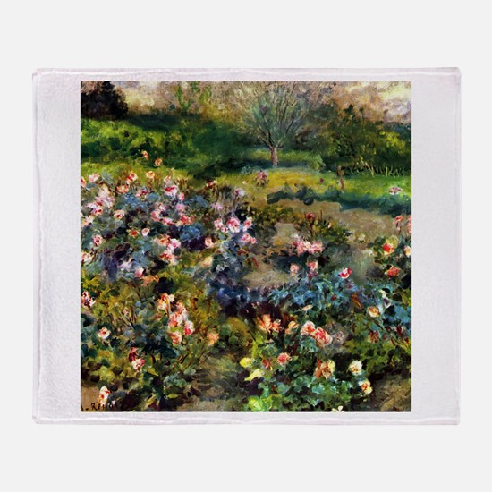 Renoir Rose Grove Throw Blanket