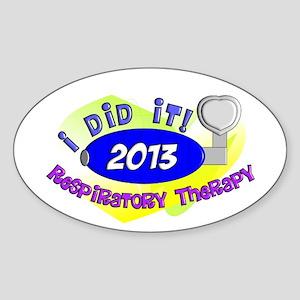 RT I did it 2013 Sticker (Oval)