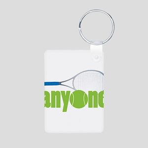 Tennis Anyone? Aluminum Photo Keychain