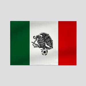 Mexican Soccer Flag Rectangle Magnet