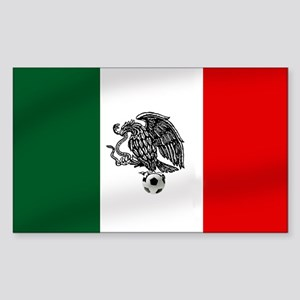 Mexican Soccer Flag Sticker (Rectangle)