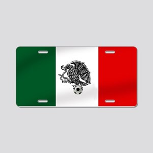 Mexican Soccer Flag Aluminum License Plate
