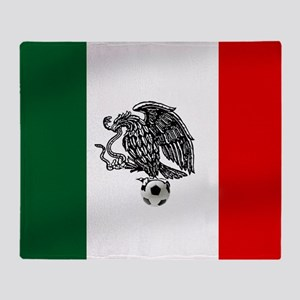 Mexican Soccer Flag Throw Blanket