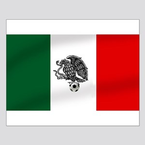 Mexican Soccer Flag Small Poster