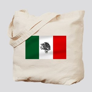 Mexican Soccer Flag Tote Bag