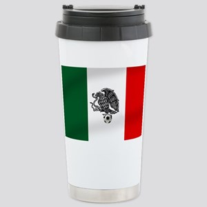 Mexican Soccer Fl 16 oz Stainless Steel Travel Mug