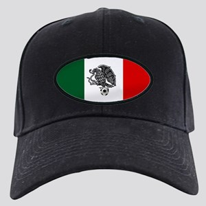Mexican Soccer Flag Black Cap with Patch