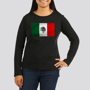 Mexican Soccer Fl Women's Long Sleeve Dark T-Shirt