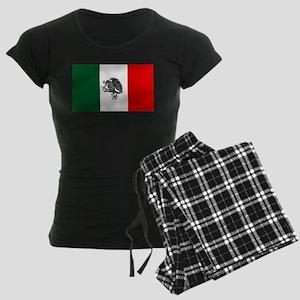 Mexican Soccer Flag Women's Dark Pajamas