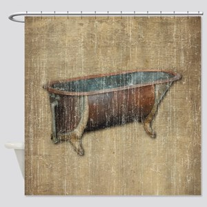Antique Bathtub Shower Curtain