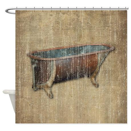 Antique Bathtub Shower Curtain