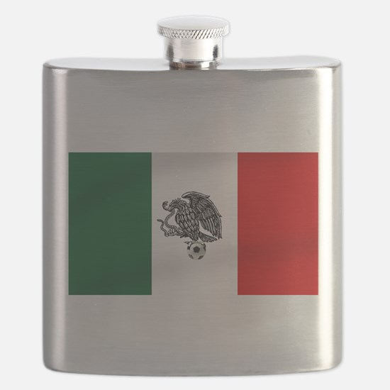 Mexican Soccer Flag Flask