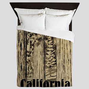 Vintage Sequoia National Park Queen Duvet