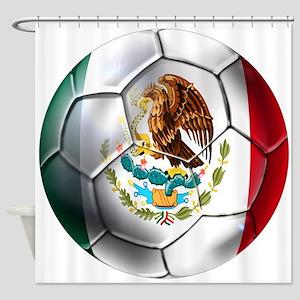 Mexican Soccer Ball Shower Curtain