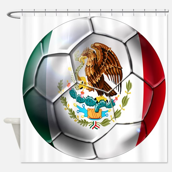 Mexican Soccer Ball Shower Curtain