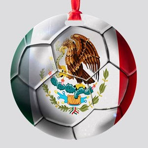 Mexican Soccer Ball Round Ornament