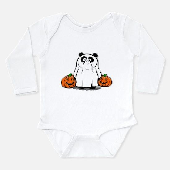 Panda Ghost Long Sleeve Infant Bodysuit