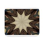 Chocolate Starburst Sherpa Fleece Throw Blanket