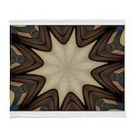 Chocolate Starburst Arctic Fleece Throw Blanket