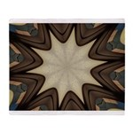 Chocolate Starburst Plush Fleece Throw Blanket