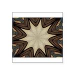 Chocolate Starburst Sticker (Square 10 pk)