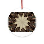Chocolate Starburst Ceramic Round Ornament