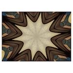 Chocolate Starburst 5x7 Flat Cards (Set of 20)