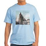 Grunge Wisconsin Flag Light T-Shirt