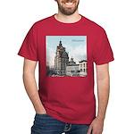 Grunge Wisconsin Flag Dark T-Shirt