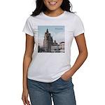 Grunge Wisconsin Flag Women's T-Shirt