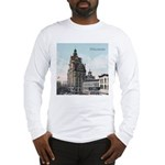 Grunge Wisconsin Flag Long Sleeve T-Shirt