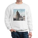 Grunge Wisconsin Flag Sweatshirt
