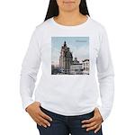 Grunge Wisconsin Flag Women's Long Sleeve T-Shirt