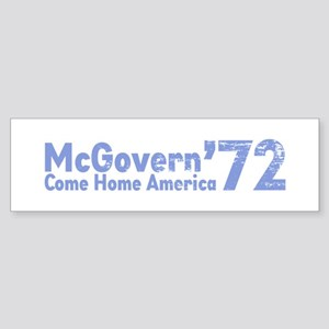 McGovern '72 Bumper Sticker
