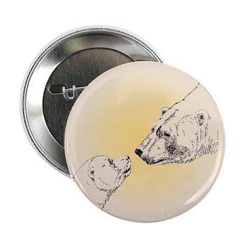 "Polar Bear & Cub 2.25"" Button (100 pack)"