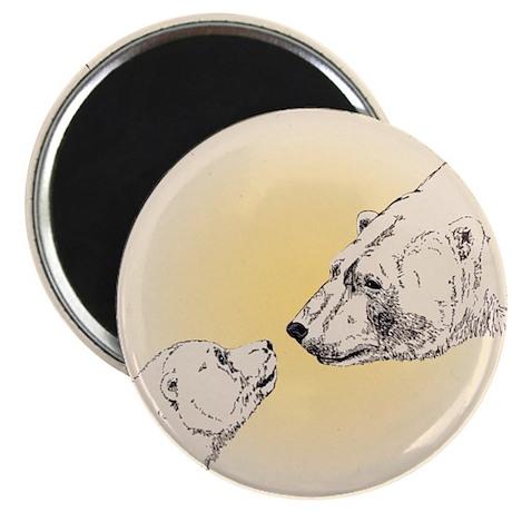"""Polar Bear & Cub 2.25"""" Magnet (10 pack)"""