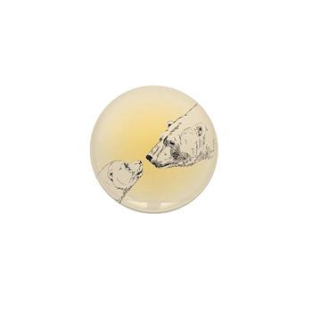 Polar Bear & Cub Mini Button (100 pack)