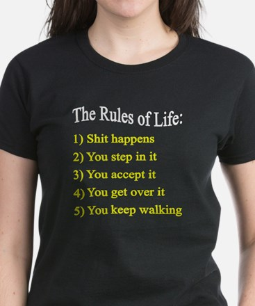 Rules of LIfe Women's Dark T-Shirt
