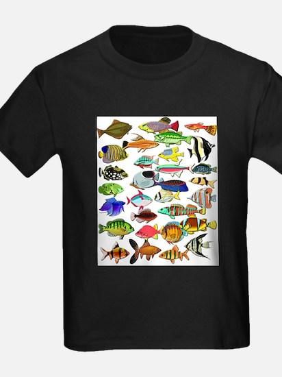 FishLayoutWhite T-Shirt