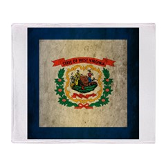 Grunge West Virginia Flag Throw Blanket
