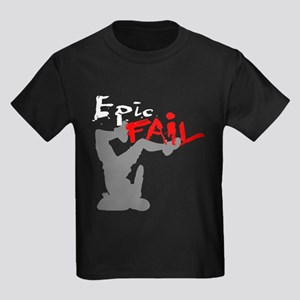 Epic Fail Type 1 Kids Dark T-Shirt