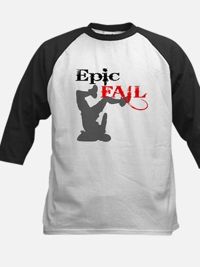 Epic Fail Type 2 Kids Baseball Jersey