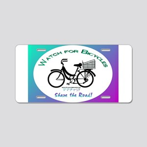 Watch for Bicycles Aluminum License Plate