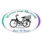 Watch for Bicycles Sticker (Oval 10 pk)