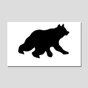 Black Bear Cub Crossing Walking Car Magnet 20 X 12